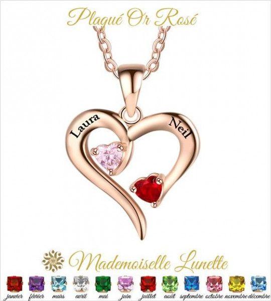 collier-plaque-or-rose-coeur-2-pierres-de-naissance-et-2-prenoms