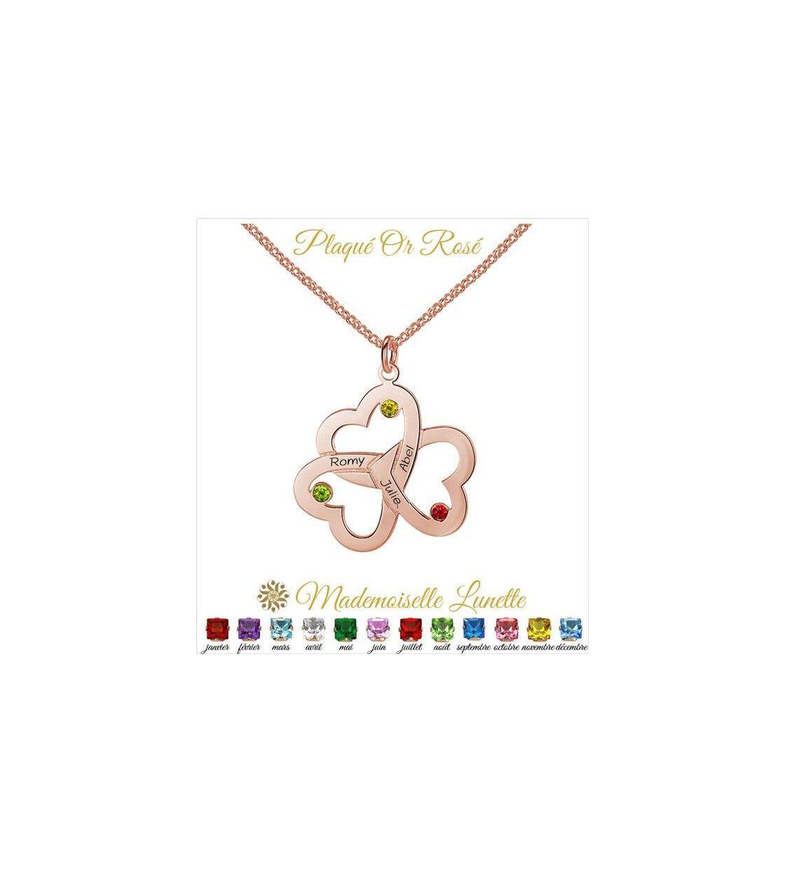 collier-or-rose-3-coeurs-entrelacés-pour-maman-3-pierres-coeur-en-argent-pour-maman-et-3-gravure-prenoms