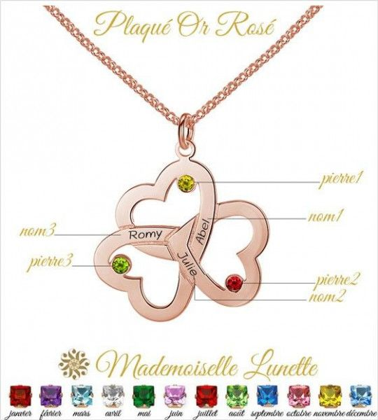 collier-femme-plaque-or-rose-avec-3-coeurs-avec-gravure-3-noms