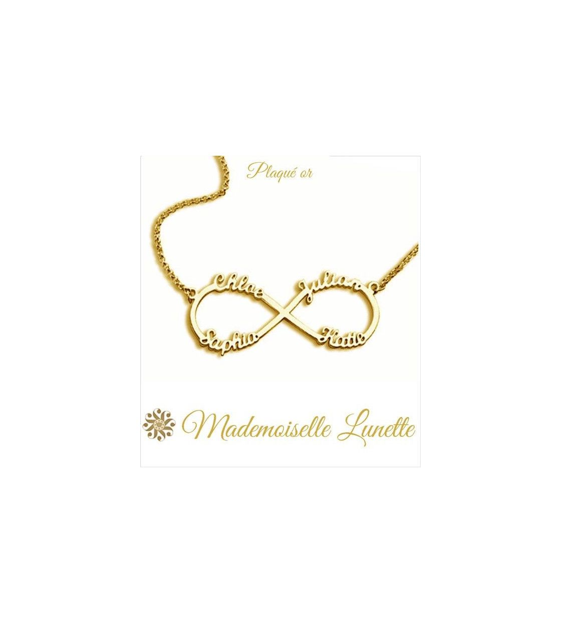 collier or femme prenom