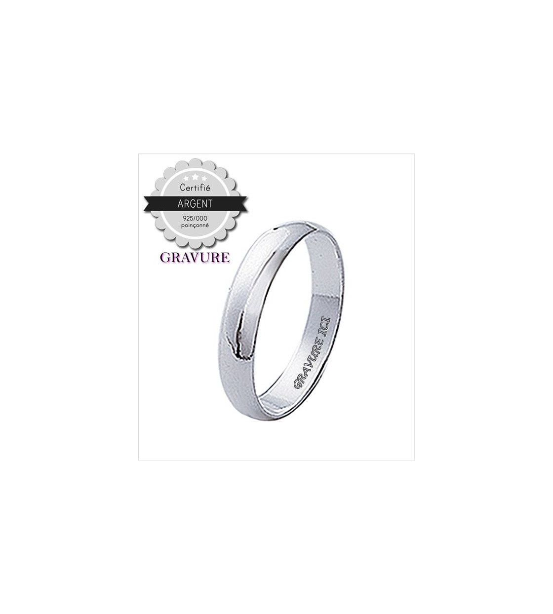 bague homme argent taille 72