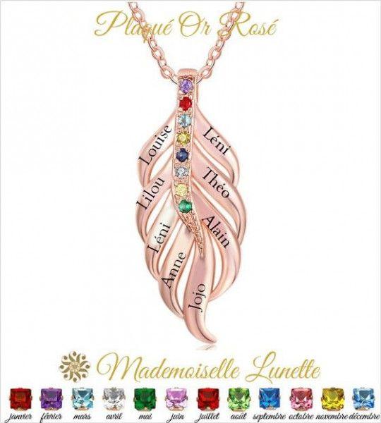 collier-feuille-pour-femme-en-plaque-or-rose-pour-maman-et-8-pierres-de-naissance-8-gravure-prenoms