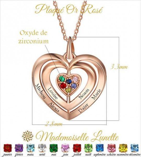 collier-triple-coeur-enlaces-avec-gravure-de-6-prenoms-et 6-pierres-de-naissance-en-fonction-du-signe-zodiac