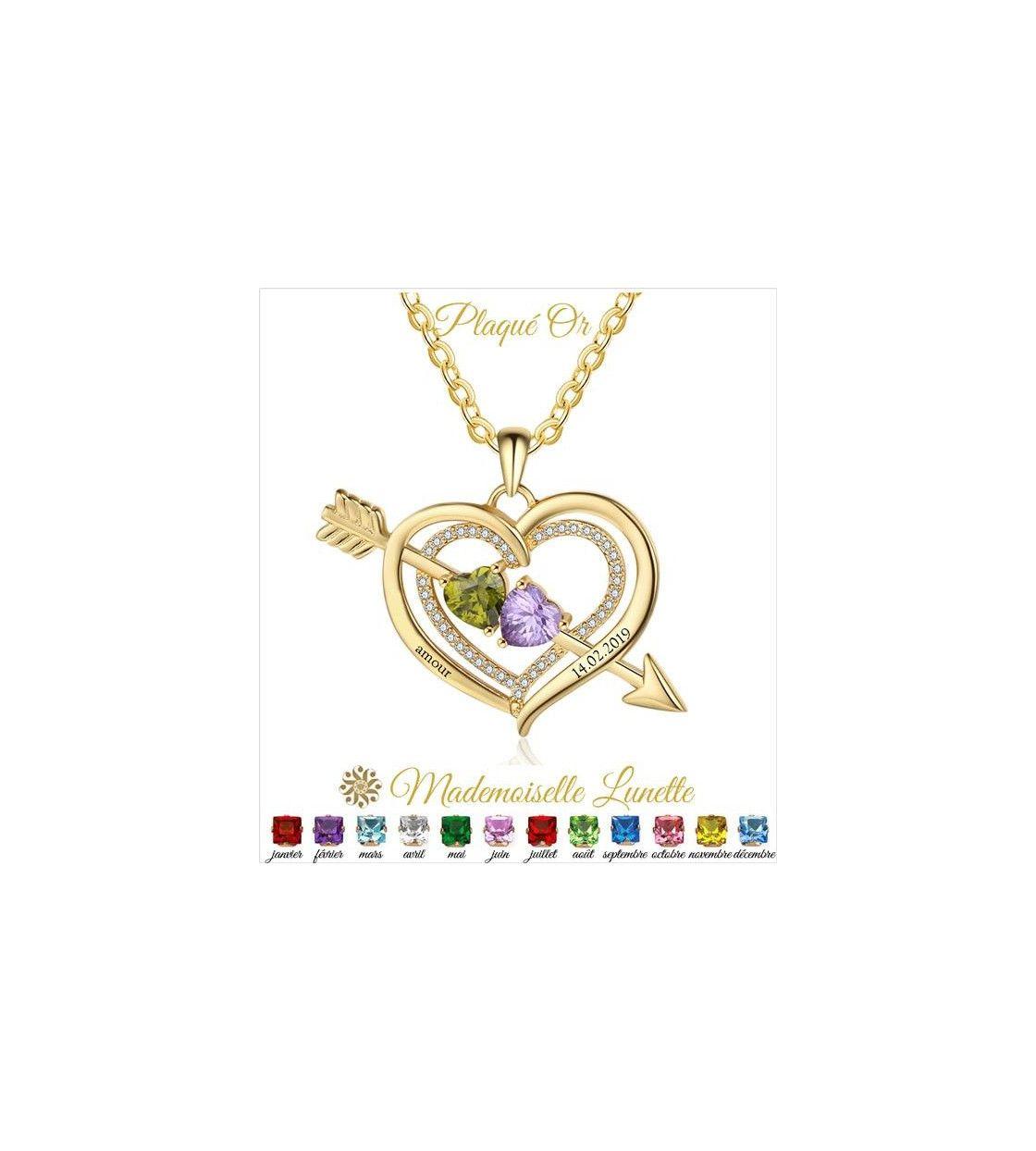 collier-coeur-fleche-plaque-or-gravure-2-nom-et-2-pierre-naissance