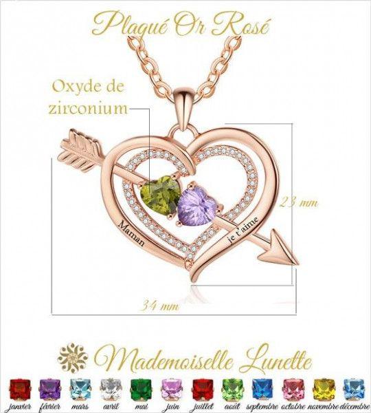 collier-grand-coeur-avec-fleche-or-rose-pour-maman-et-femme-avec-2-pierres-et-2-prenoms-offerts