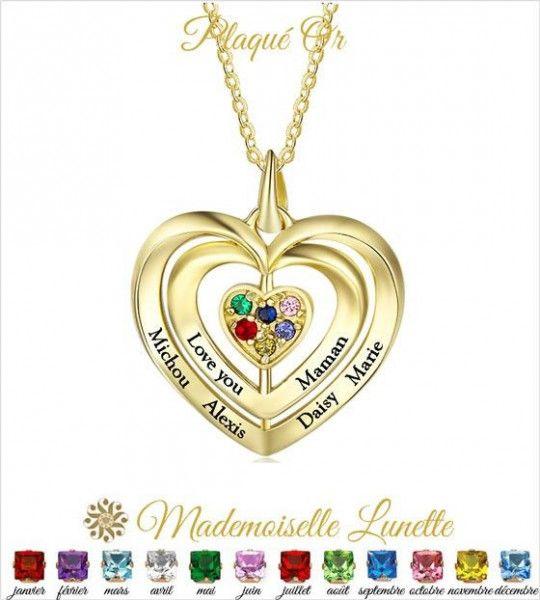 collier-triple-coeur-gravure-6-noms-et-6-pierres-naissance-collier-plaque-or
