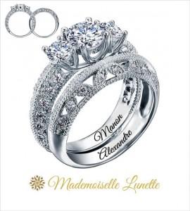 bague de mariage avec diamant