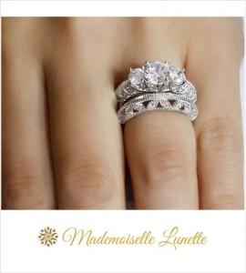 bague diamant et argent femme
