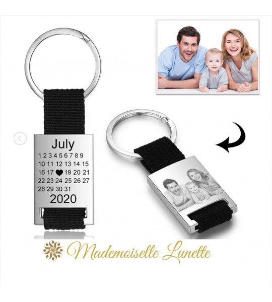 porte cle personnalisé avec calendrier et photo