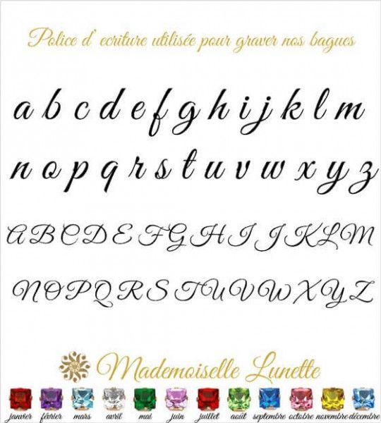 ecriture utilisée pour la gravure