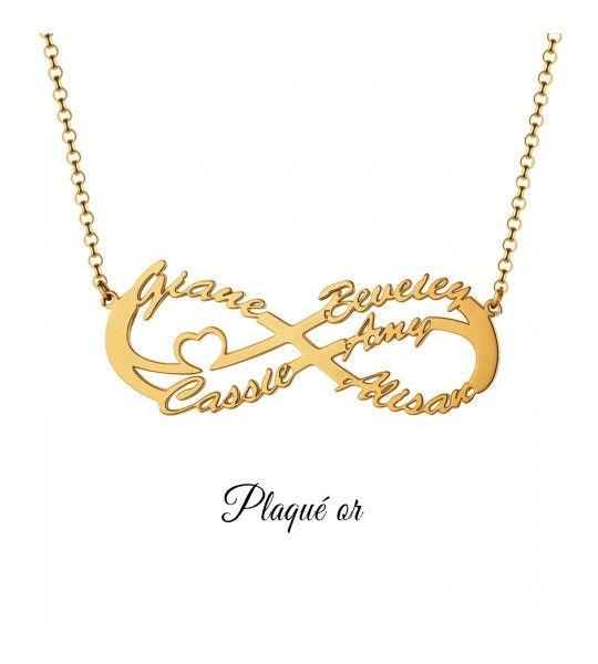 collier-pas-cher-avec-signe-de-l-infini-et-gravure-5-prenoms-collier-infini-plaqué or