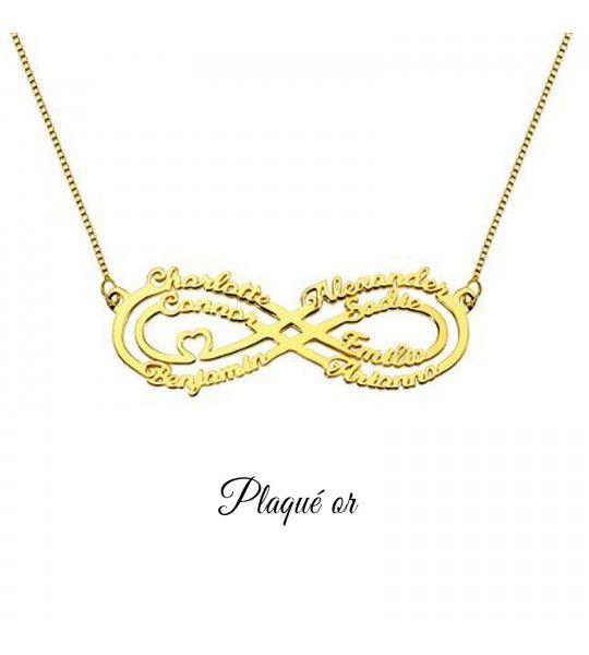 collier-pas-cher-avec-signe-de-l-infini-et-gravure-7-prenoms-collier-infini-plaqué or