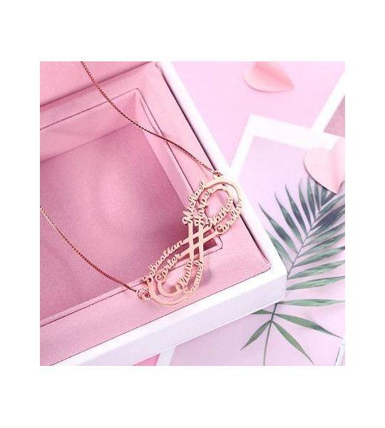 collier-pas-cher-avec-signe-de-l-infini-et-gravure-8-prenoms-collier-infini-plaqué or rose