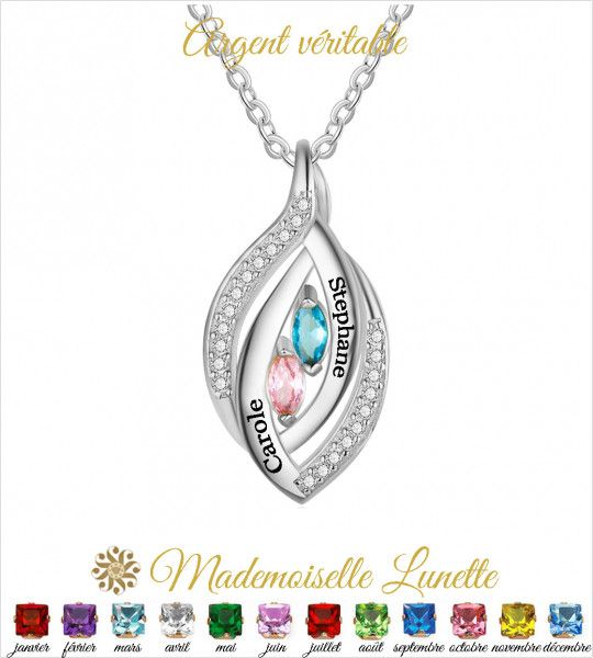 Collier maman personnalisable - Cadeau maman- Cadeau mamie  - 1