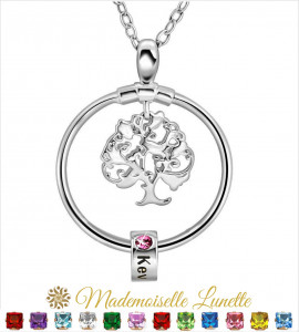 Collier arbre de vie maman- collier personnalisable avec prénom  - 1