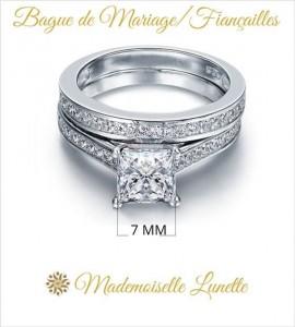 bague avec diamant 7 mm