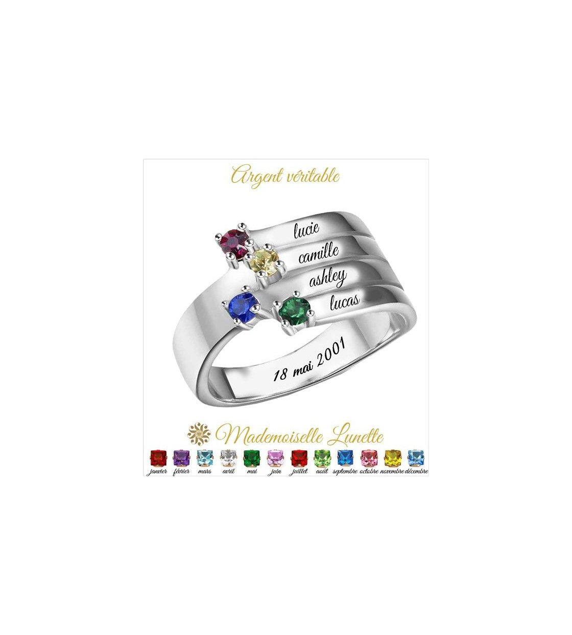 bague-maman-argent-avec-quatre-pierres-naissance-et-quatre-gravure-prenom-enfant