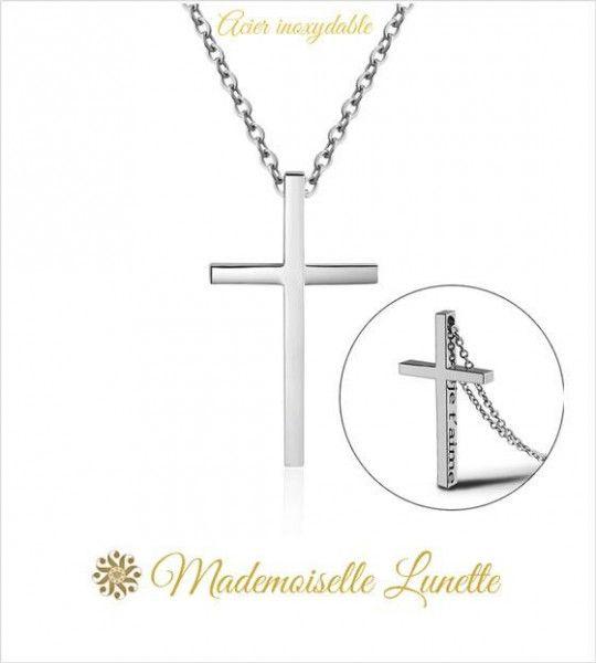 collier-homme-avec-pendentif-croix-personnalisable