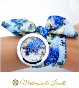 montre-bracelet-ruban-interchangeable-motif-fleur-bleu-montre-pour-maman