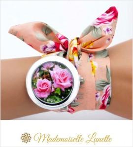 montre-bracelet-ruban-interchangeable-motif-fleur-roses-montre-pour-maman