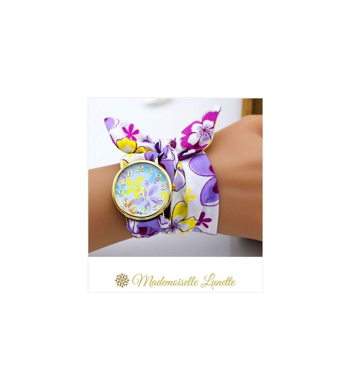 montre-bracelet-ruban-interchangeable-motif-fleur-montre-pour-maman