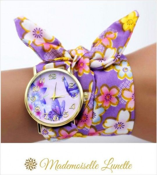 montre-bracelet-ruban-interchangeable-motif-fleur-et-papillons-montre-pour-maman