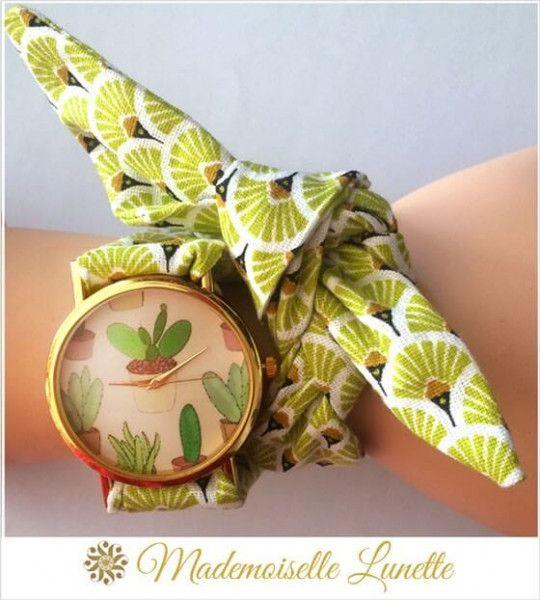 montre-bracelet-ruban-interchangeable-motif-cactus-vert-montre-pour-maman